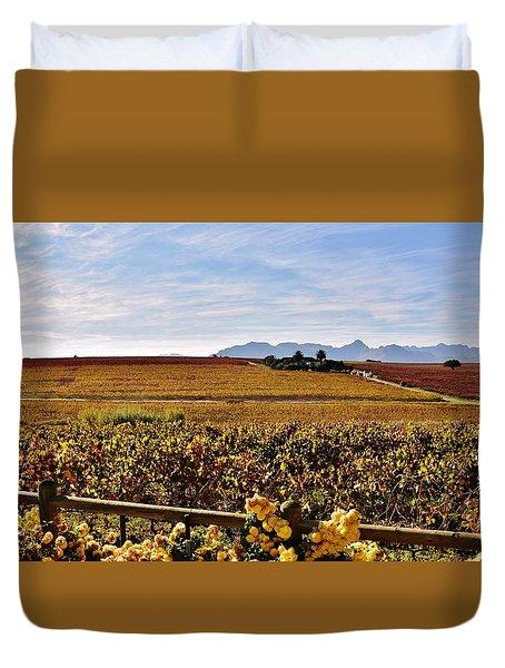 Autumn In The Vineyard Duvet Cover