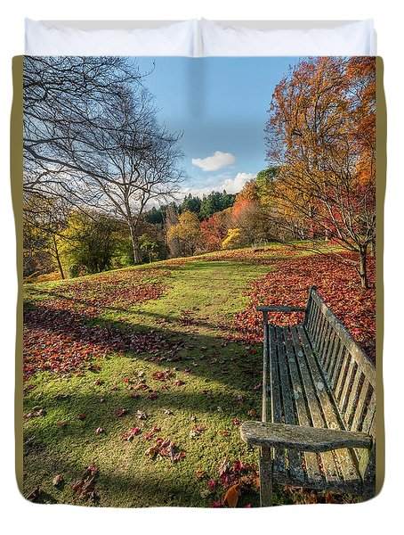 Duvet Cover featuring the photograph Autumn Leaves by Adrian Evans