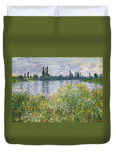 Banks Of The Seine, Vetheuil Duvet Cover