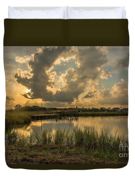 Bayou Sunset Duvet Cover by Brian Wright