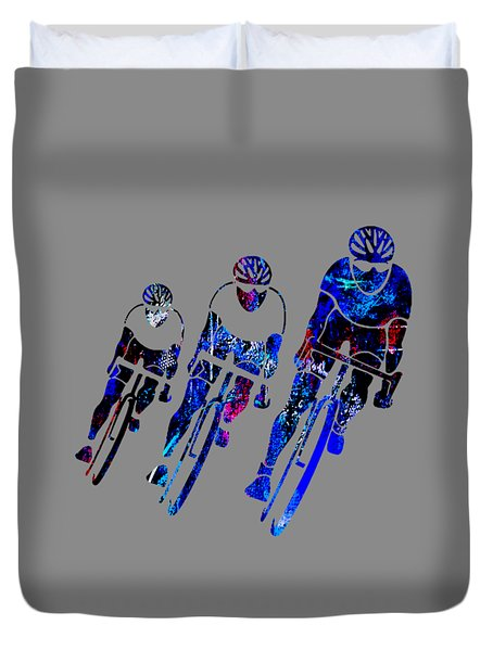 Bike Racing Duvet Cover