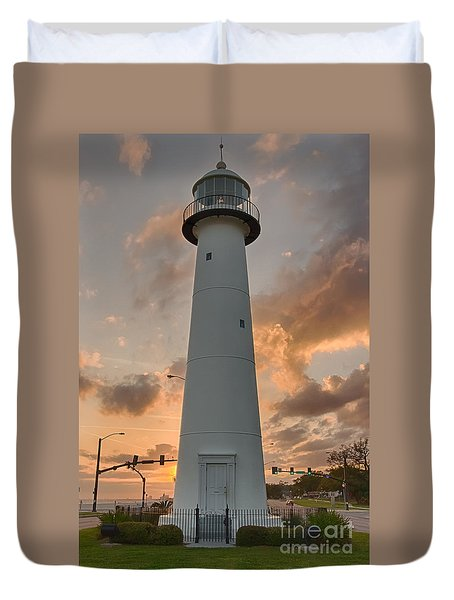 Biloxi Lighthouse Duvet Cover by Brian Wright