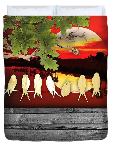 Birds On A Wire Collection Duvet Cover