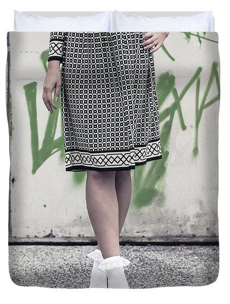 Black And White Duvet Cover by Joana Kruse