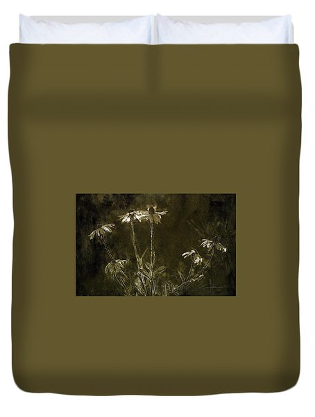 Duvet Cover featuring the photograph Black Eyed Susans by Jim Vance