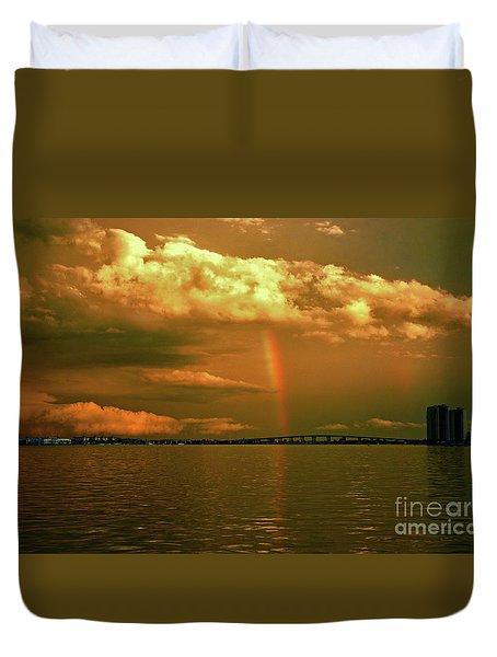 Duvet Cover featuring the photograph 3- Blue Heron Bridge by Rainbows