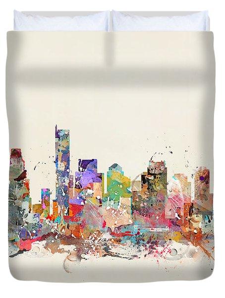 Boston City Massachusetts Duvet Cover