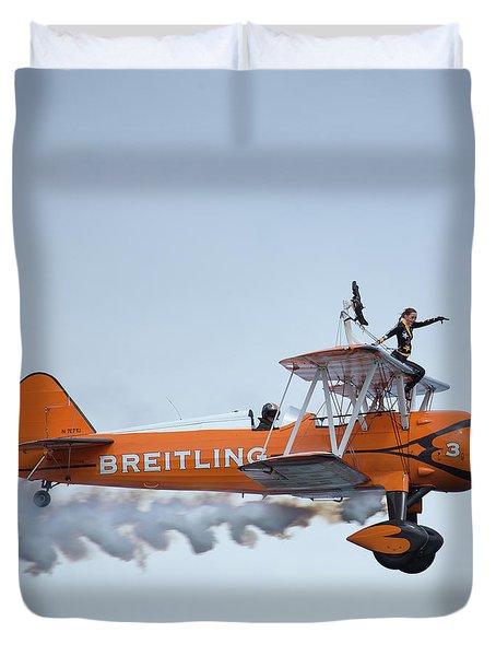 Breitling Wing Walker Duvet Cover
