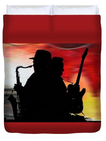 Bruce Springsteen Clarence Clemons Duvet Cover