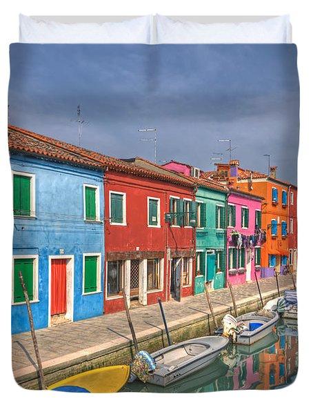 Burano - Venice - Italy Duvet Cover by Joana Kruse