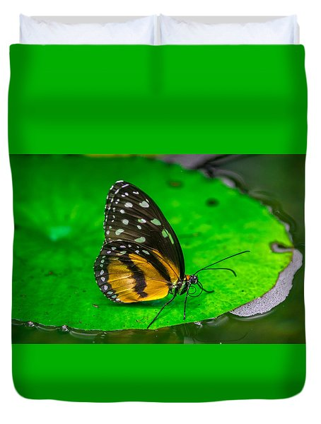 Duvet Cover featuring the photograph Butterfly by Jerry Cahill