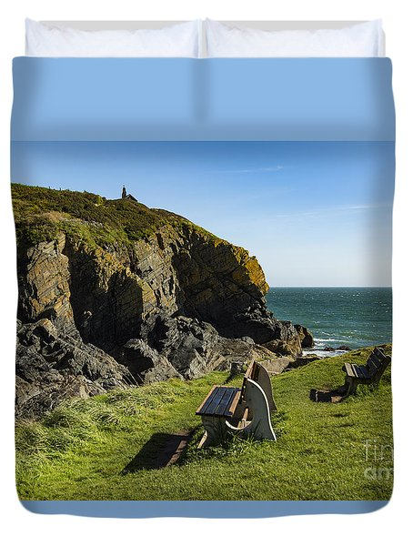 Duvet Cover featuring the photograph Cadgwith Cove by Brian Roscorla