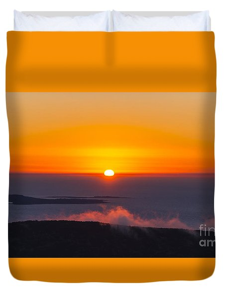 Cadillac Mountain Sunset.  Duvet Cover