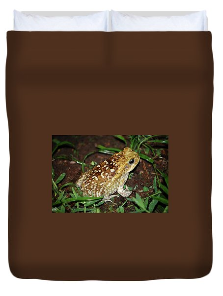Duvet Cover featuring the photograph Cane Toad by Breck Bartholomew