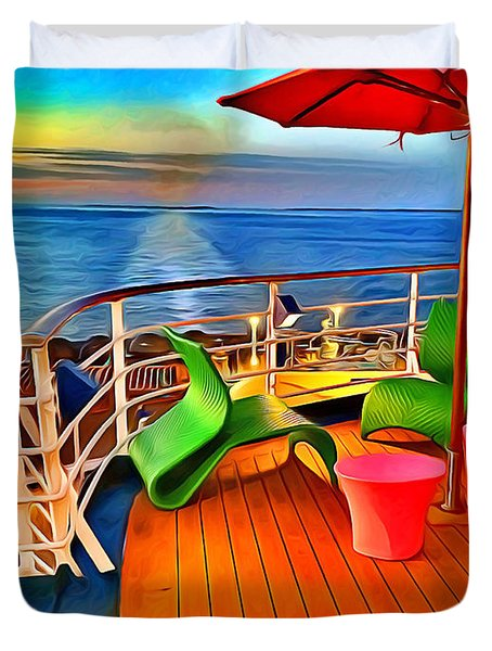 Carnival Pride Deck Duvet Cover