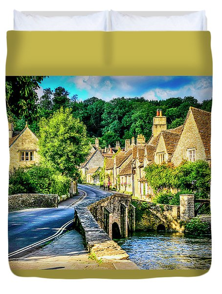 Castle Combe Village, Uk Duvet Cover