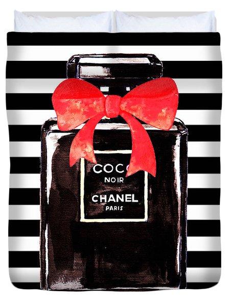 Chanel Noir Perfume Duvet Cover