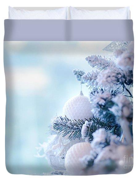 Christmas Tree Border Duvet Cover