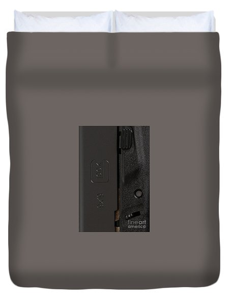 Closeup Of Glock Pistol Duvet Cover