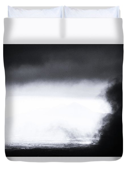 Coming In Duvet Cover by Jez C Self
