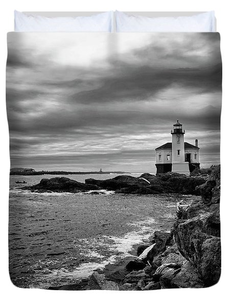 Coquille Lighthouse Duvet Cover