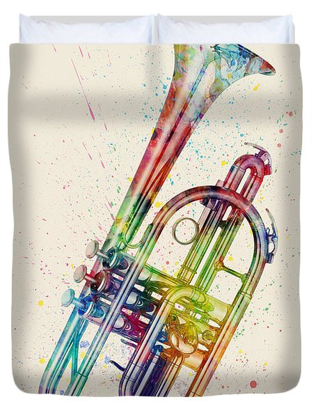 Cornet Abstract Watercolor Duvet Cover