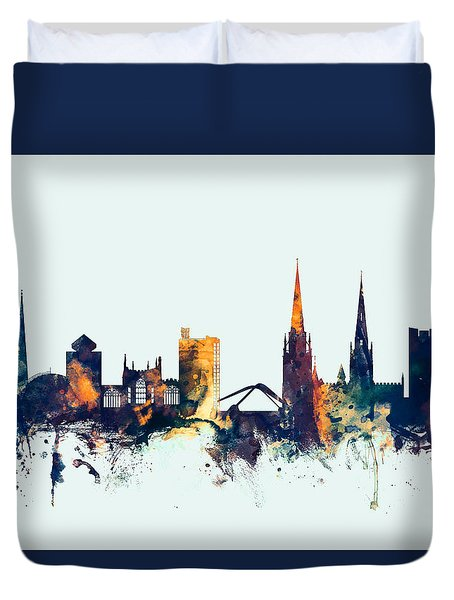 Coventry England Skyline Duvet Cover
