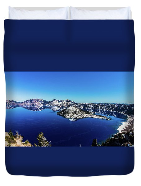 Duvet Cover featuring the photograph Crater Lake by Jonny D