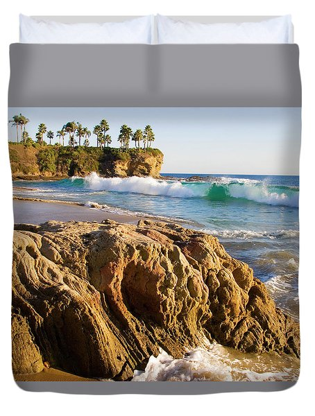 Crescent Bay, Laguna Beach, California Duvet Cover by Utah Images