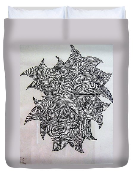 3 D Sketch Duvet Cover
