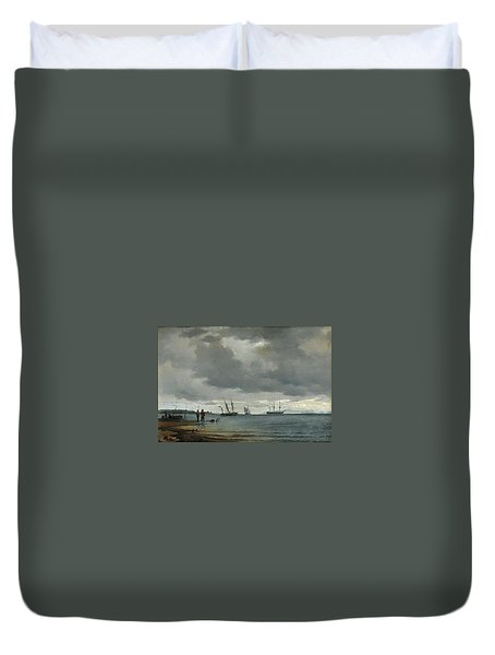 Danish Seascape Duvet Cover by Carl Frederick