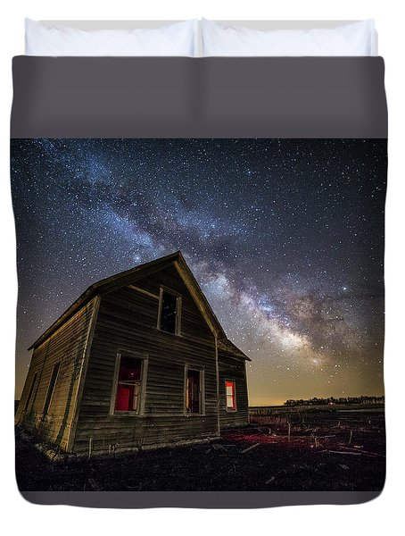 Duvet Cover featuring the photograph Dark Place  by Aaron J Groen
