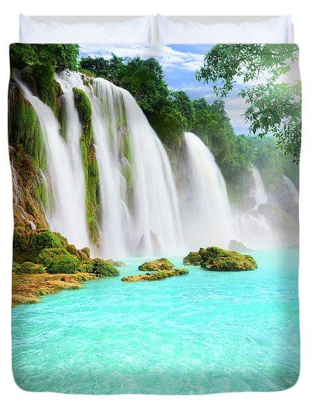 Detian Waterfall Duvet Cover