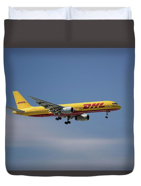 Dhl Boeing 757-236 Pcf Duvet Cover