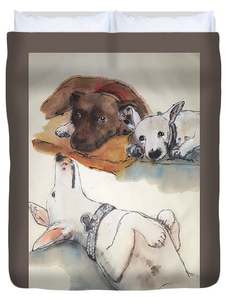 Dogs Dogs  Dogs Album Duvet Cover