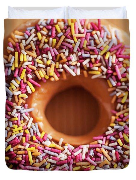 Donut And Sprinkles Duvet Cover