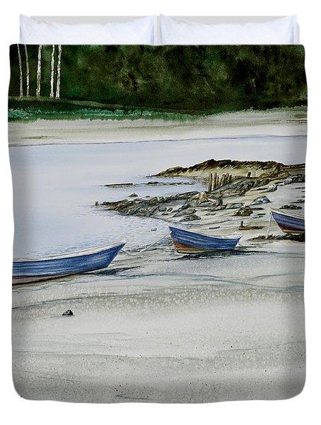 3 Dories Kennebunkport Duvet Cover