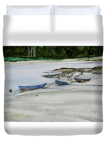 3 Dories Kennebunkport Duvet Cover