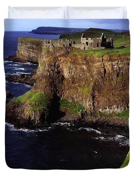 Dunluce Castle, Co. Antrim, Ireland Duvet Cover by The Irish Image Collection