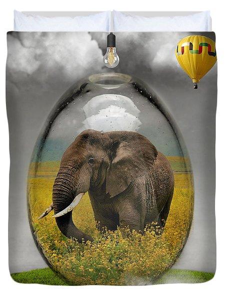 Elephant Art Duvet Cover by Marvin Blaine