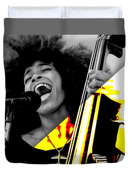 Esperanza Spalding Collection Duvet Cover by Marvin Blaine