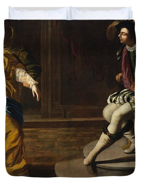 Esther Before Ahasuerus Duvet Cover