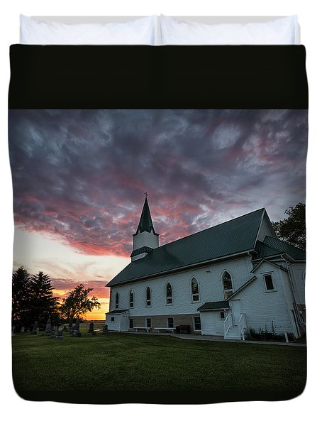 Duvet Cover featuring the photograph Faith  by Aaron J Groen