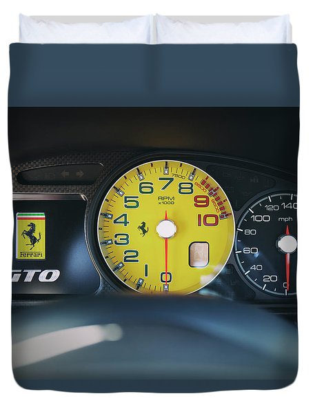 Duvet Cover featuring the photograph #ferrari #599gto #print by ItzKirb Photography