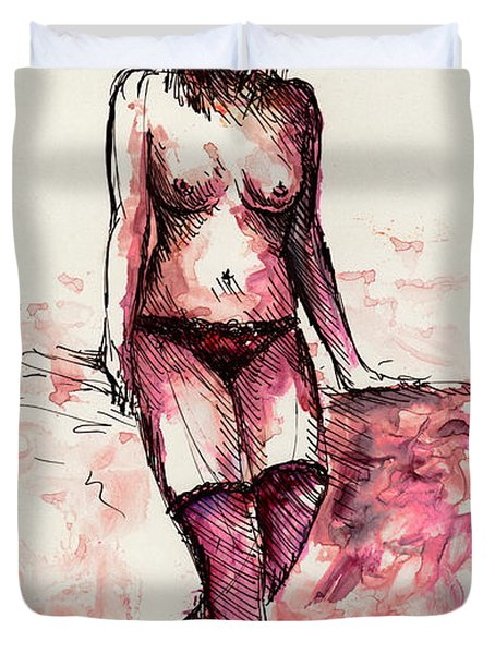 Figure Study Duvet Cover by Rachel Christine Nowicki
