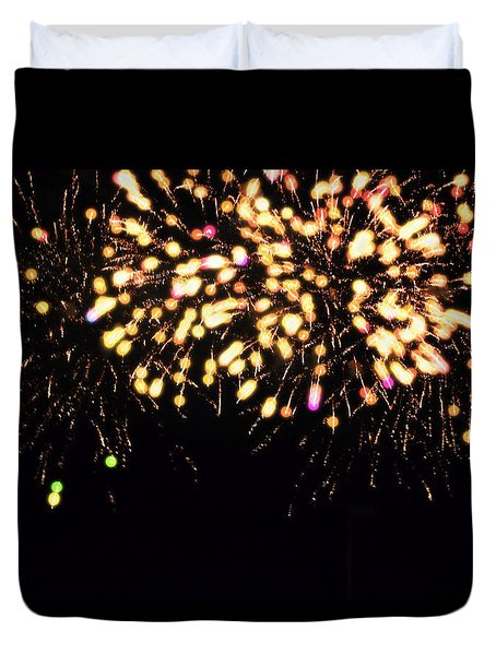 Fireworks Over Puget Sound Duvet Cover by Cathy Anderson