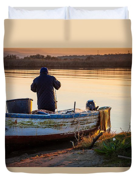 Fisherman's Virtues Duvet Cover