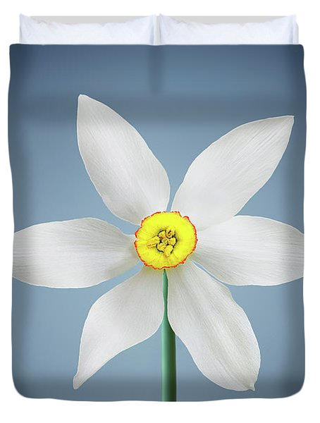 Duvet Cover featuring the photograph Flower Paradise by Bess Hamiti