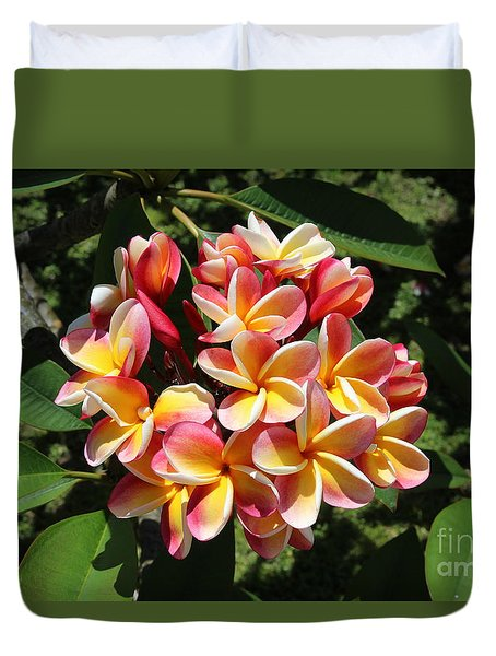 Flowers Duvet Cover by Anthony Jones