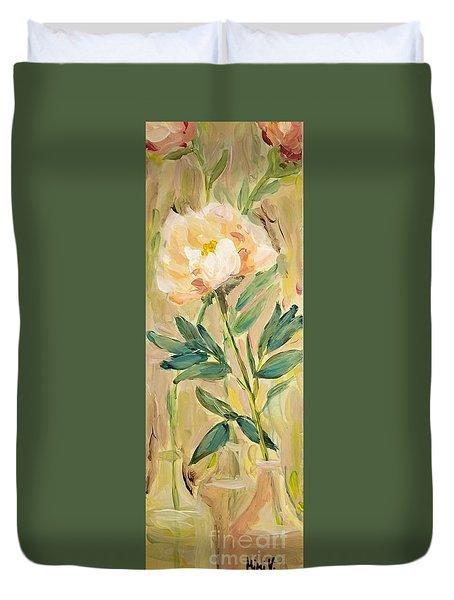 3 Flowers Duvet Cover